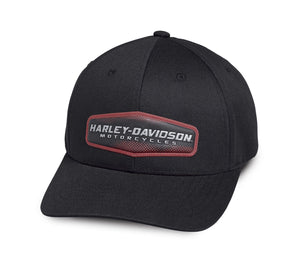Harley-Davidson Mens High Density Print Black Cotton Baseball Cap - 97775-19VM