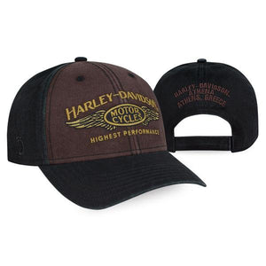 Harley-Davidson Men's Highest Performance Stone Washed Baseball Cap - BCC33668