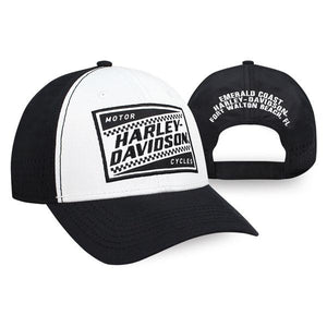 Harley-Davidson Men's Ignition Embroidered Baseball Cap, White & Black BCC33488