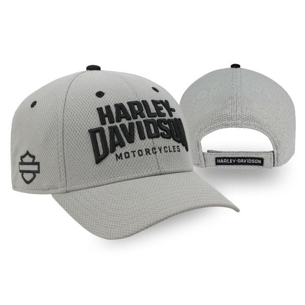 Harley-Davidson Men's Insignia Embroidered H-D Adjustable Baseball Cap - Gray