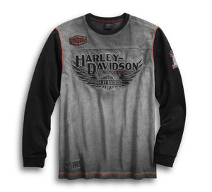 Harley-Davidson Men's Iron Block Pullover, Grey - 99008-17VM