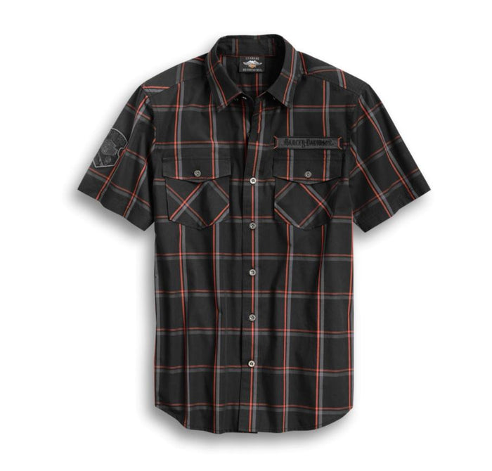 Harley-Davidson Men's Iron & Pride Plaid Shirt - 96380-20VM