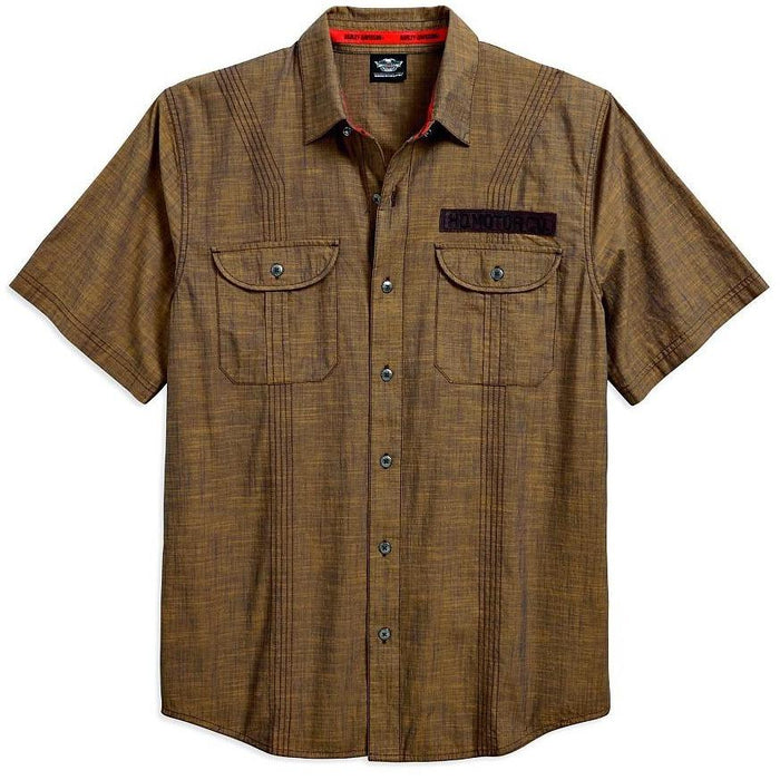 Harley-Davidson™ Men's Multi-Track Stitched Shirt 96411-18VM