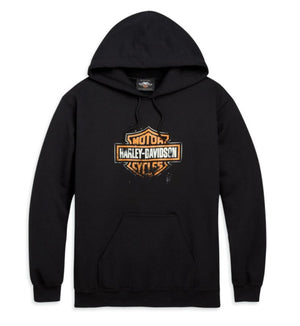 Harley-Davidson Men's Patina Bar & Shield Logo Pullover Hooded Sweatshirt- 96490-20VM