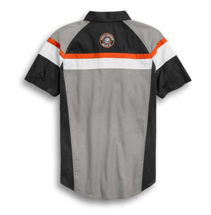 Harley-Davidson Men's Performance Mesh Side Colorblock Shirt - 96376-20VM