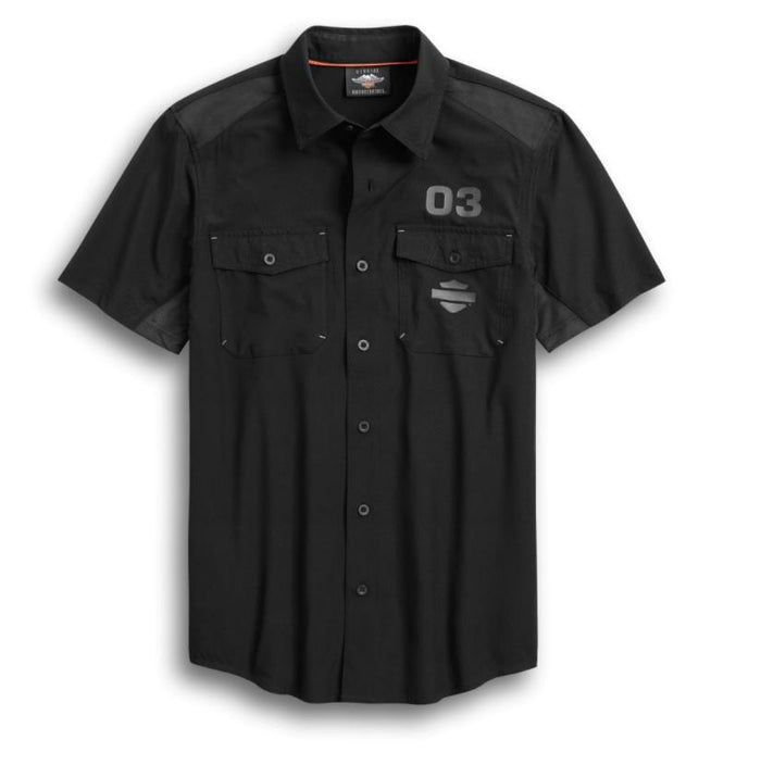 Harley-Davidson Men's Performance Ripstop & Mesh Shirt - 96370-20VM