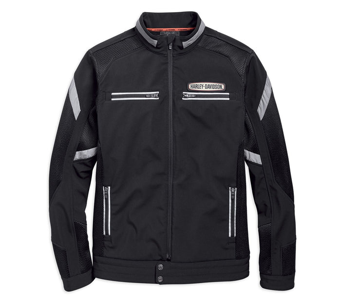 Harley-Davidson® Men's Performance Soft Shell & Mesh Jacket - 97518-19VM