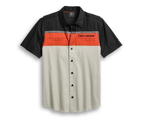 Harley-Davidson Men's Performance Vented Colorblock Shirt - 96017-20VM