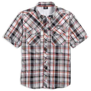 Harley-Davidson™ Men's Performance Vented Plaid Woven Shirt 96000-17VM