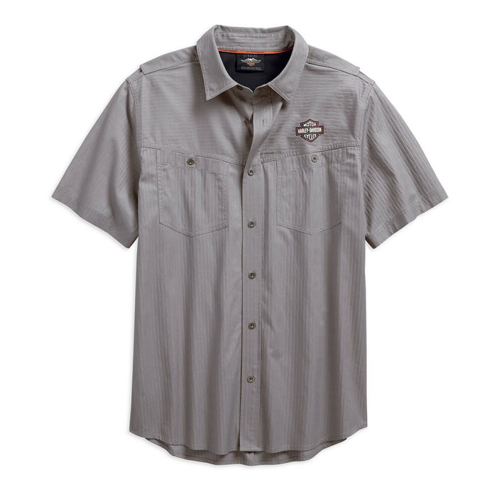 Harley-Davidson® Men's Performance Vented Textured Woven Shirt 96547-19VM