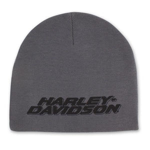 Harley-Davidson Men's Printed H-D Polyester Knit Beanie Cap - Gray KN51654