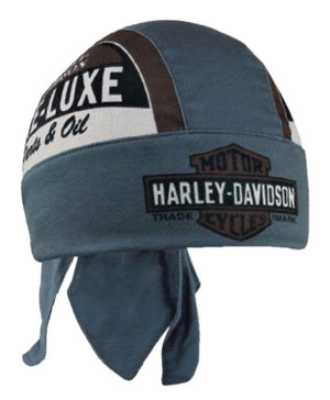 Harley-Davidson Men's Retro Pre-Luxe Headwrap, Brown & Dust, HW27131