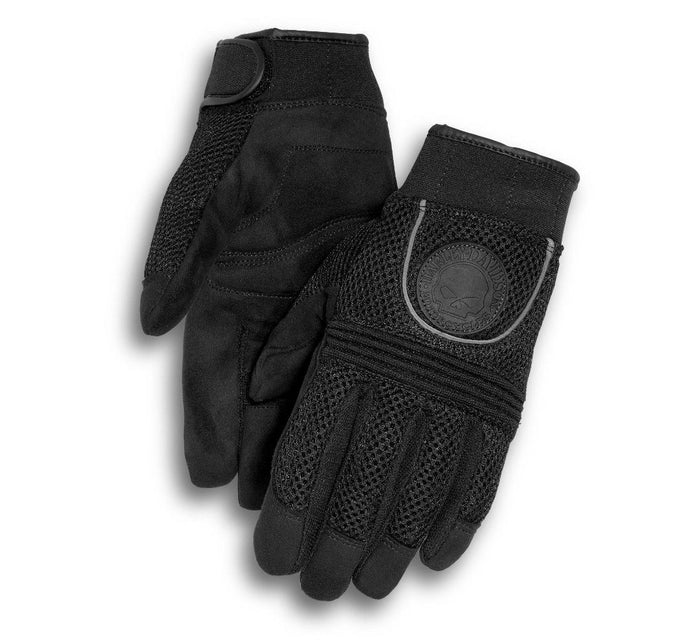 Harley-Davidson Men's Skull Full-Finger Mesh Gloves - 98254-10VM