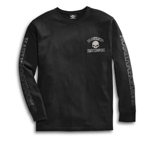 Harley-Davidson Men's Skull Long Sleeve Tee - Black - 99091-14VM