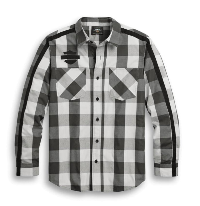 Harley-Davidson Men's Sleeve Stripe Plaid Shirt - 96303-20VM