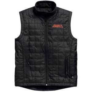 Harley-Davidson Men's Stimulate Heated 7V Black Motorcycle Vest 98557-15VM