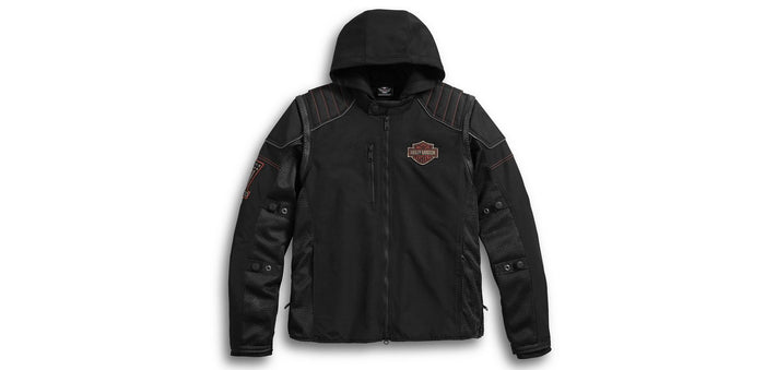 Harley-Davidson® Men's Sully 3-in-1 Convertible Mesh Jacket - 98176-17VM