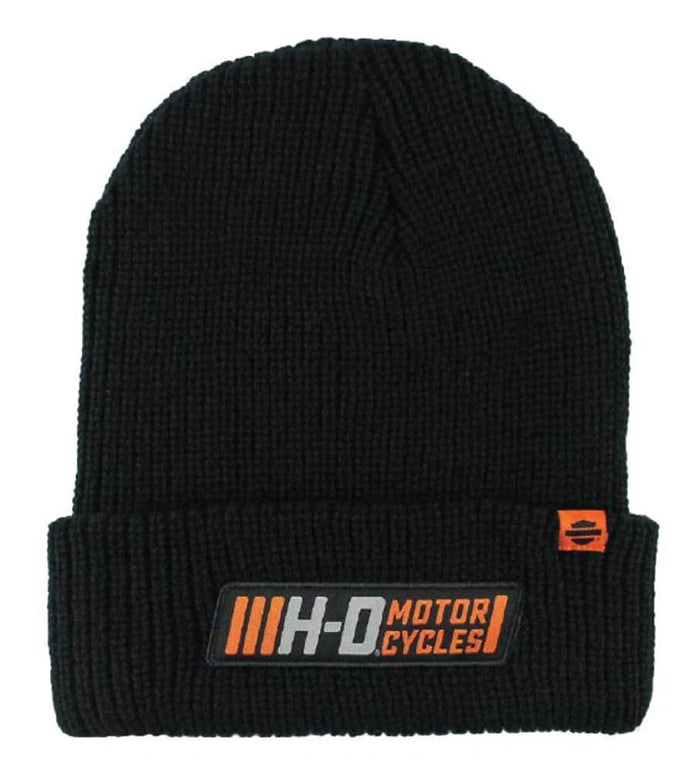 Harley-Davidson Men's Traction Woven Rib Knit Cuffed Beanie Cap - KN31530