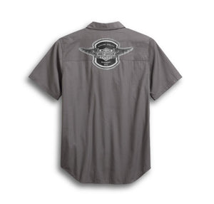 Harley-Davidson Men's Winged Logo Textured Shirt - 99154-19VM