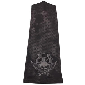Harley-Davidson Men's Wrenched Winged Skull Speed Sock, Black & Gray SP23230