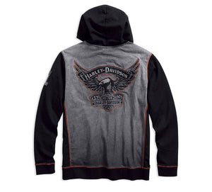 Harley-Davidson Official Men's Iron Block Pullover Hoodie - 99001-17VM