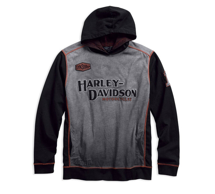 Harley-Davidson® Official Men's Iron Block Pullover Hoodie - 99001-17VM