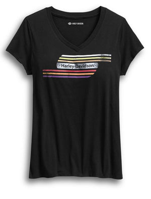 Harley-Davidson Official Women's Retro Tank Stripe Tee - 99084-18VW