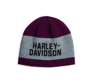 Harley-Davidson Reversible Wide Stripe Knit Hat - 97615-20VM