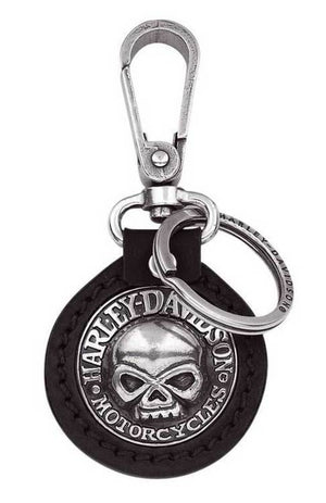 Harley-Davidson Willie G. Skull Medallion Key Chain Fob, Black - 99443-06V