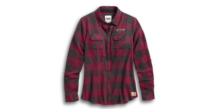 Harley-Davidson® Women's Genuine Laced Yoke Plaid Shirt - 99109-17VW