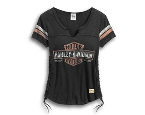 Harley-Davidson Women's Genuine Side Laced Tee - 99104-17VW