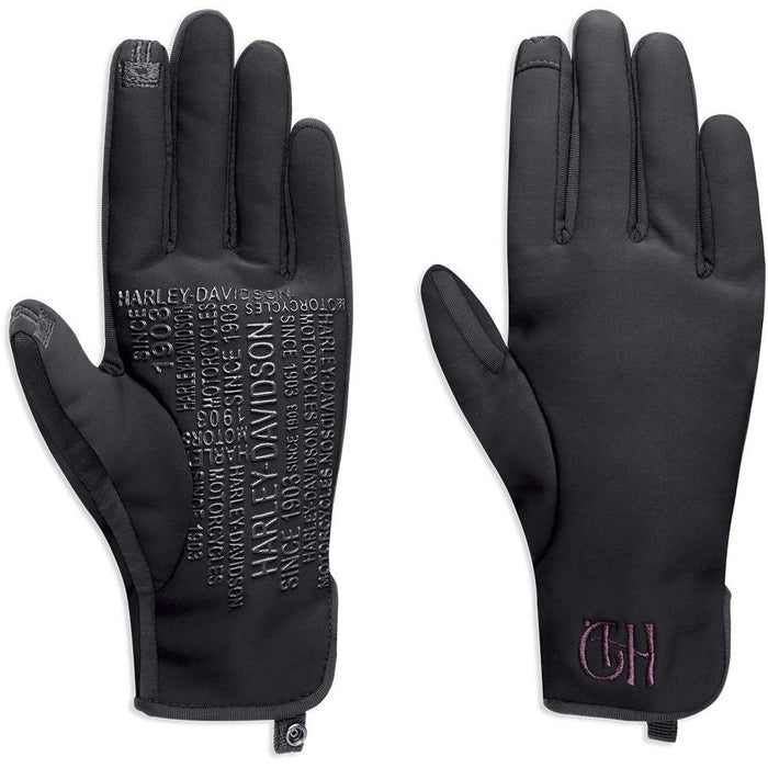 Harley-Davidson™ Womens Kendel Soft Shell Polyester Gloves - 97370-18VW