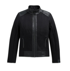 Harley-Davidson Women's Leather & Compression Knit Jacket 3 Women's Leather & Compression Knit Jacket