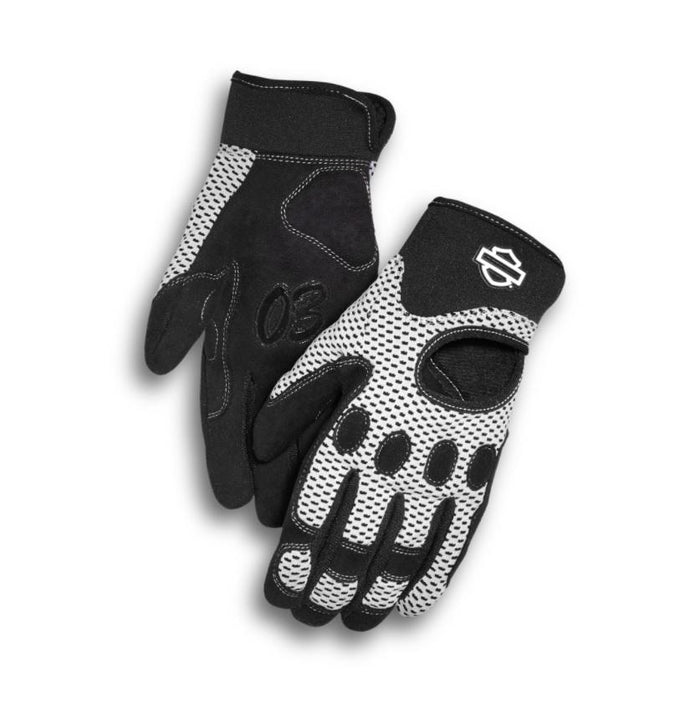 Harley-Davidson Women's Reveaux Mesh Gloves Powered by Coolcore Technology - 98252-18VW