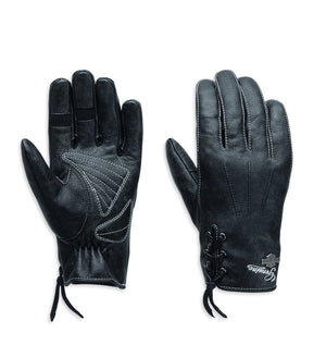 Harley-Davidson Women's Swingback Distressed Full-Finger Gloves - 98343-15VW