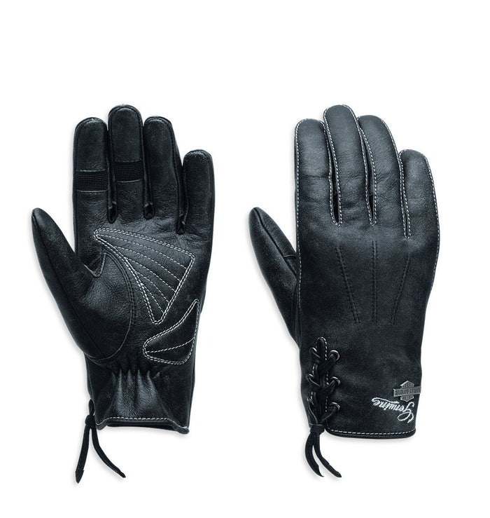 Harley-Davidson® Women's Swingback Distressed Full-Finger Gloves - 98343-15VW