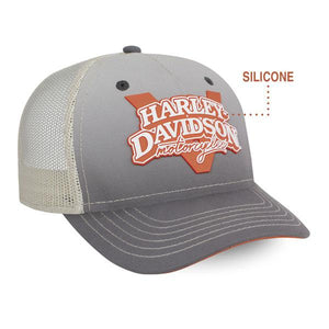 Harley-Davidson Women's V-Twin Power Adjustable Baseball Cap, Gray BC132554