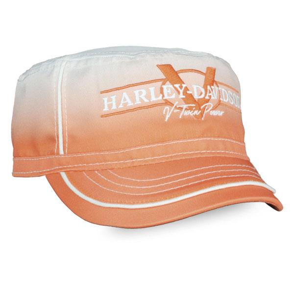 Harley-Davidson Women's V-Twin Power Gradient Painters Cap, Orange Wash PC132579