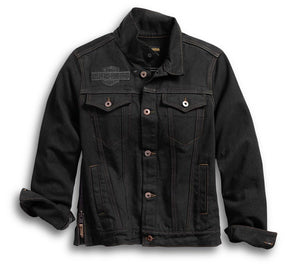 Harley-Davidson Women's Winged Appliqué Denim Jacket - 98593-18VW