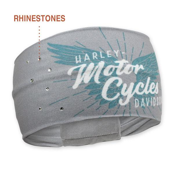 Harley-Davidson Women's Winged Script Pure Freedom Headband, HP33563