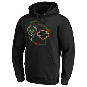 Harley-Davidson x Milwaukee Bucks Hugging The Curb Hoodie
