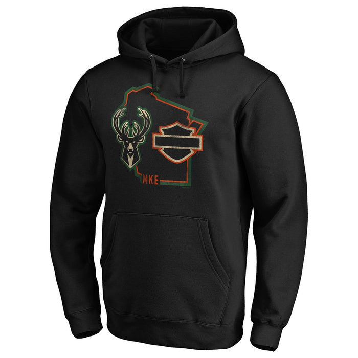 Harley-Davidson® x Milwaukee Bucks® Hugging The Curb Hoodie