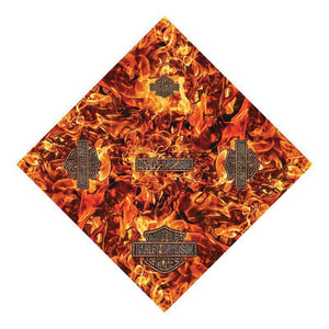 Harley-Davidson® Mens Hell Fire Flames with B&S Logo Sublimated Polyester