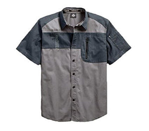 Harley-Davidson® Mens Shadow Eagle Charcoal Short Sleeve Shirt 96411-17VM *CLEARANCE*