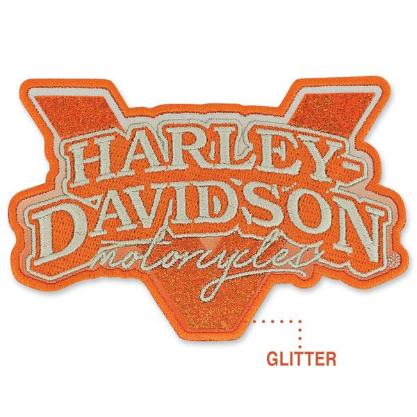 Harley-Davidson® V-Twin Power Small Glitter Patch - EM1325792