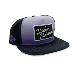 Harley-Davidson® Women's Born 2 Ride Flat Bill Black Baseball Cap