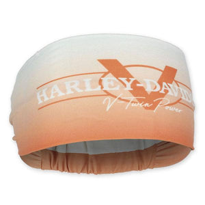 Harley-Davidson® Women's V-Twin Power Headband Scrunchie - Orange HE132579