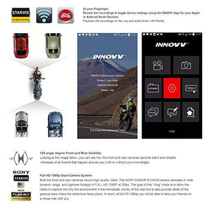 INNOVV K2 Motrcycle / ATV / UTV Dual Camera system with GPS & Wifi