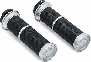 Kuryakyn 3580 Riot Handlebar Grips (1996-2019 cable throttle)
