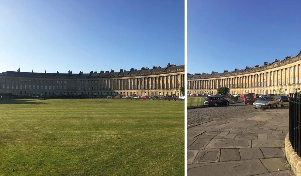 Visit the Royal Crescent while you're on the tourist trail in Bath - DuoBoots